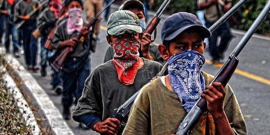 La comunidad mexicana que entrena a sus niños para enfrentar a narcos