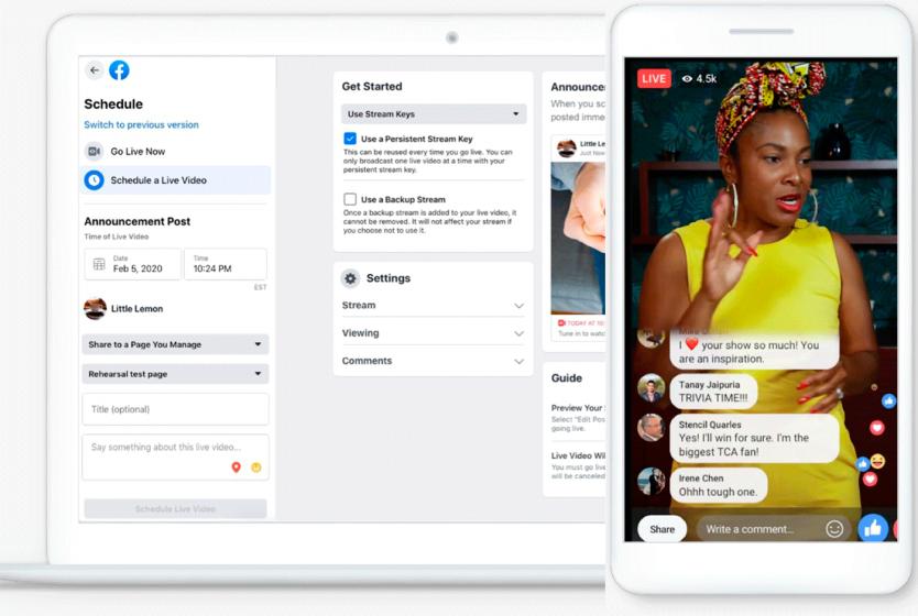 Facebook LIVE reporta varias novedades en su nueva actualización