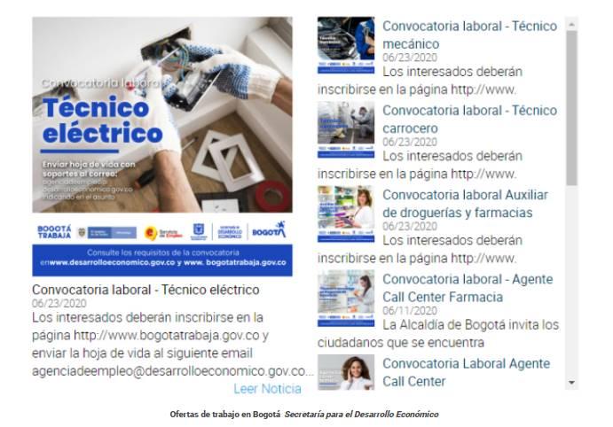 Trabajo en Bogotá: estas son las 4.000 ofertas de empleo de la feria virtual laboral en diciembre