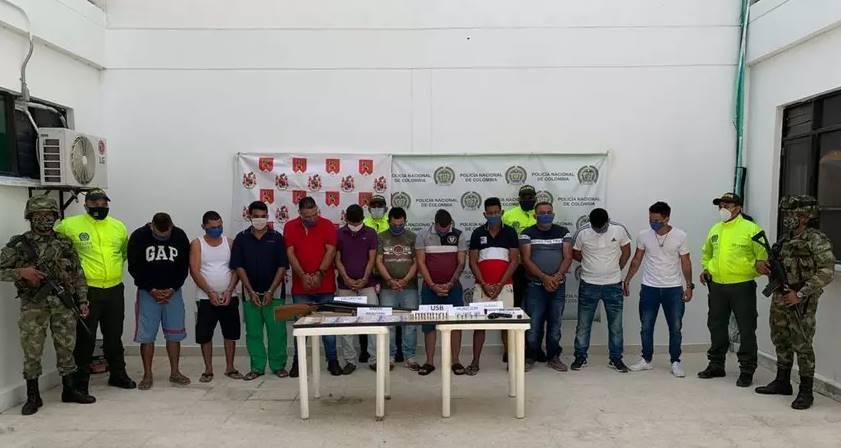 Capturan a once integrantes de Los 'Rastrojos' en Cúcuta