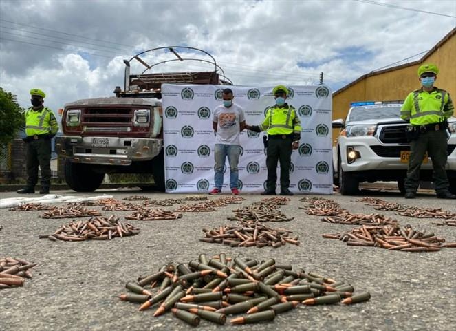 Más de 10.000 cartuchos para fusil 7.62 que iban para Tame fueron incautados en Boyacá