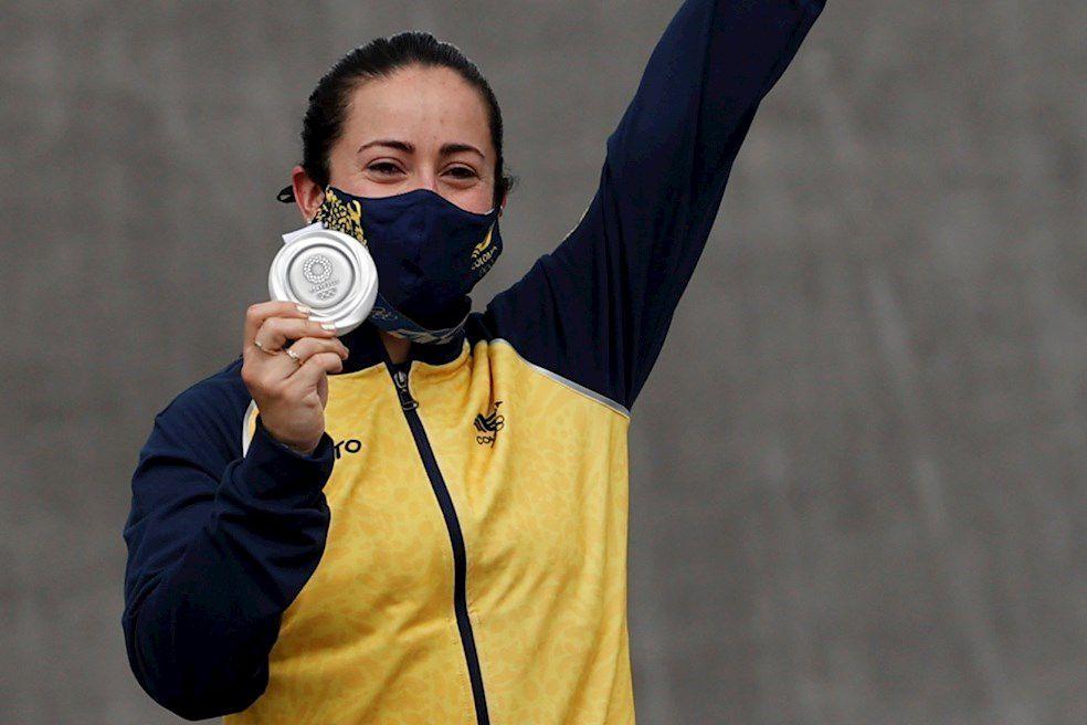 ¡Mariana Pajón conquistó su tercera medalla olímpica: se colgó la plata en Tokio!