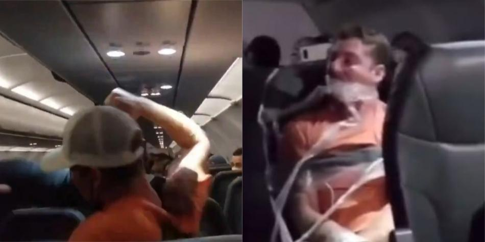 Un pasajero atacó a dos azafatas y fue atado con cinta al asiento